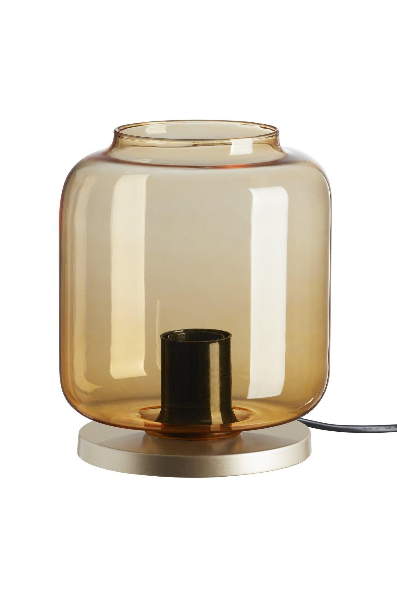 Tischleuchte Klassik Glas Briloner Metall gold 18 x 22 x 18 cm