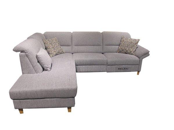 Ecksofa Dietsch  Textil Q2 Hit Platin ca. 270 cm x 90 cm x 220 cm