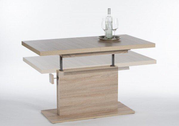 Beistelltisch inbuy Holzwerkstoff Eiche Sonoma Nachbildung ca. 76 cm x 59 cm x 120 cm