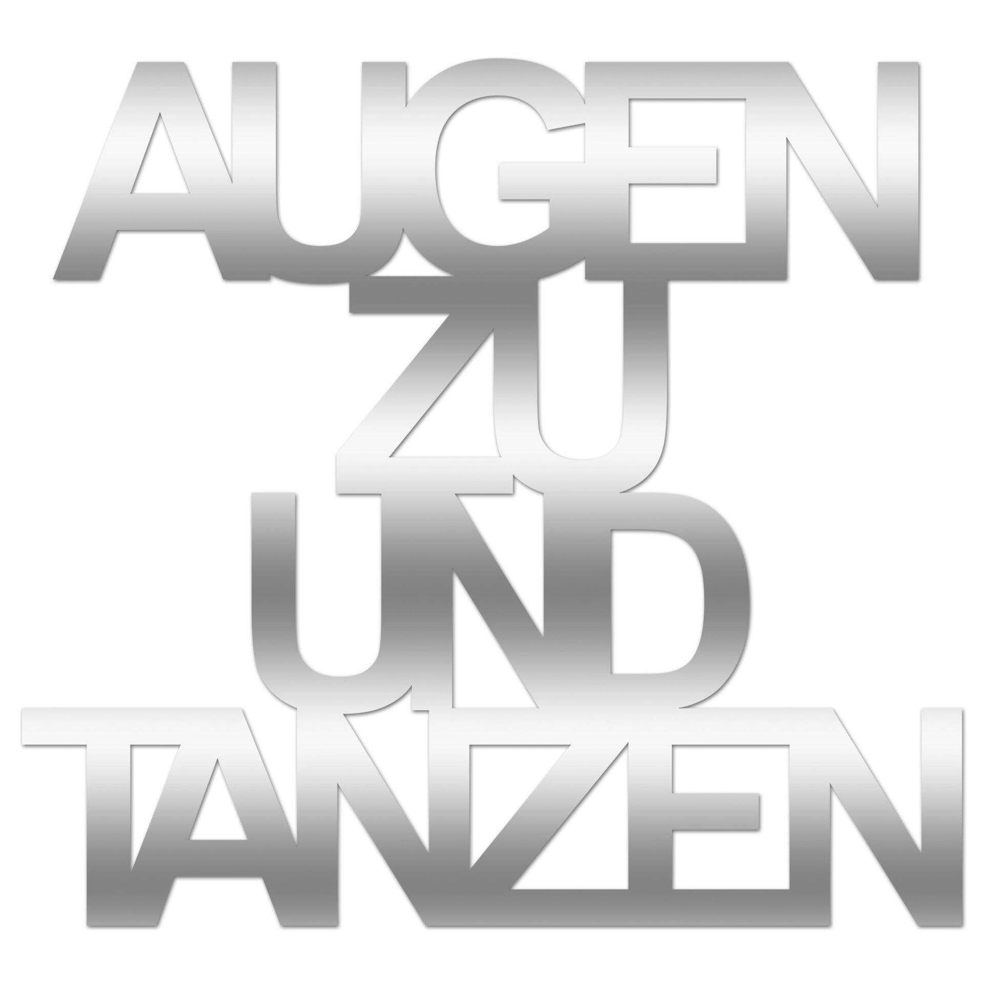 Bild Augen Zu Und Tanzen Pro-Art Kunststoff 50 x 50 x