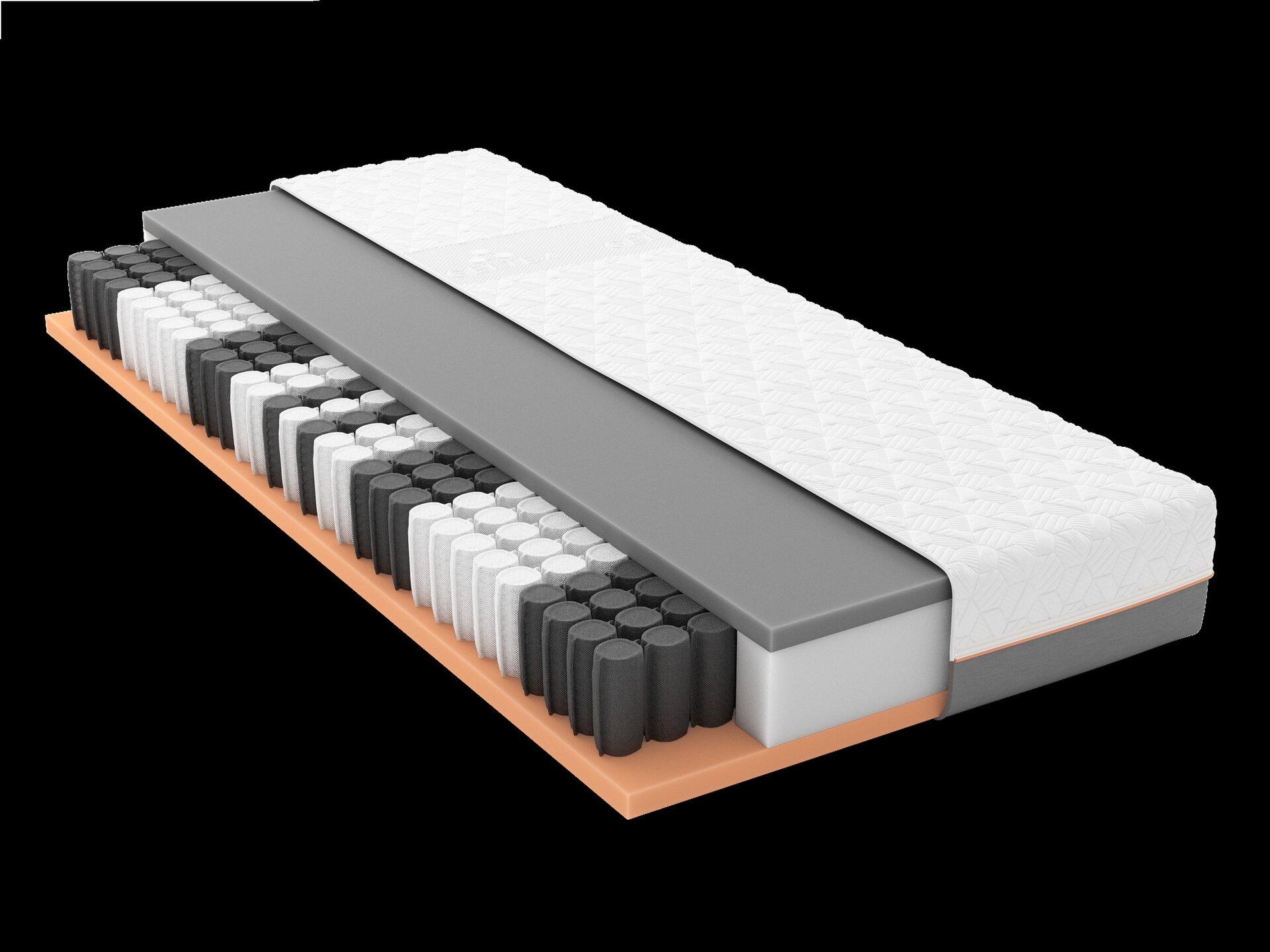 Taschenfederkernmatratze GELTEX Starline X5 TFK H3 Schlaraffia Textil weiß 140 x 20 x 200 cm