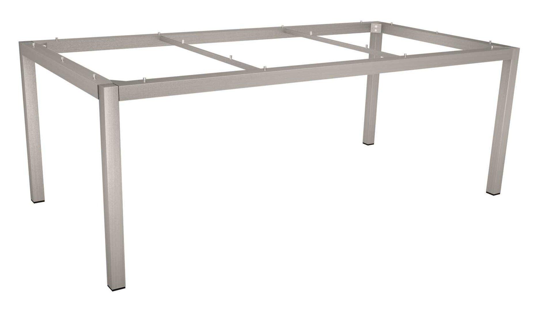 Tischgestell Tischgestelle Stern Garten- und Freizeitmöbel Metall silber 90 x 72 x 160 cm
