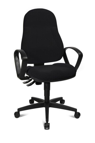 Büro-Drehstuhl Topstar Kunststoff, Textil Stoff Schwarz ca. 45 cm x 118 cm x 46 cm