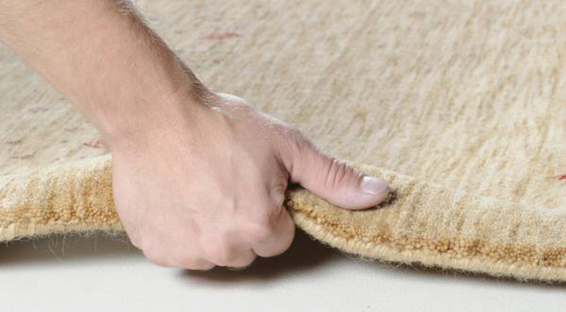 Handwebteppich Lori Star Theko Textil braun 1 x 2 cm