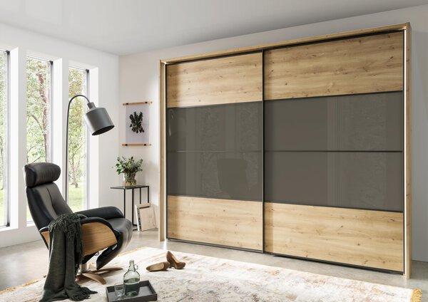 Schwebetürenschrank Vito Holzwerkstoff 479 Bianco Eiche Nachbildung ca. 67 cm x 217 cm x 300 cm