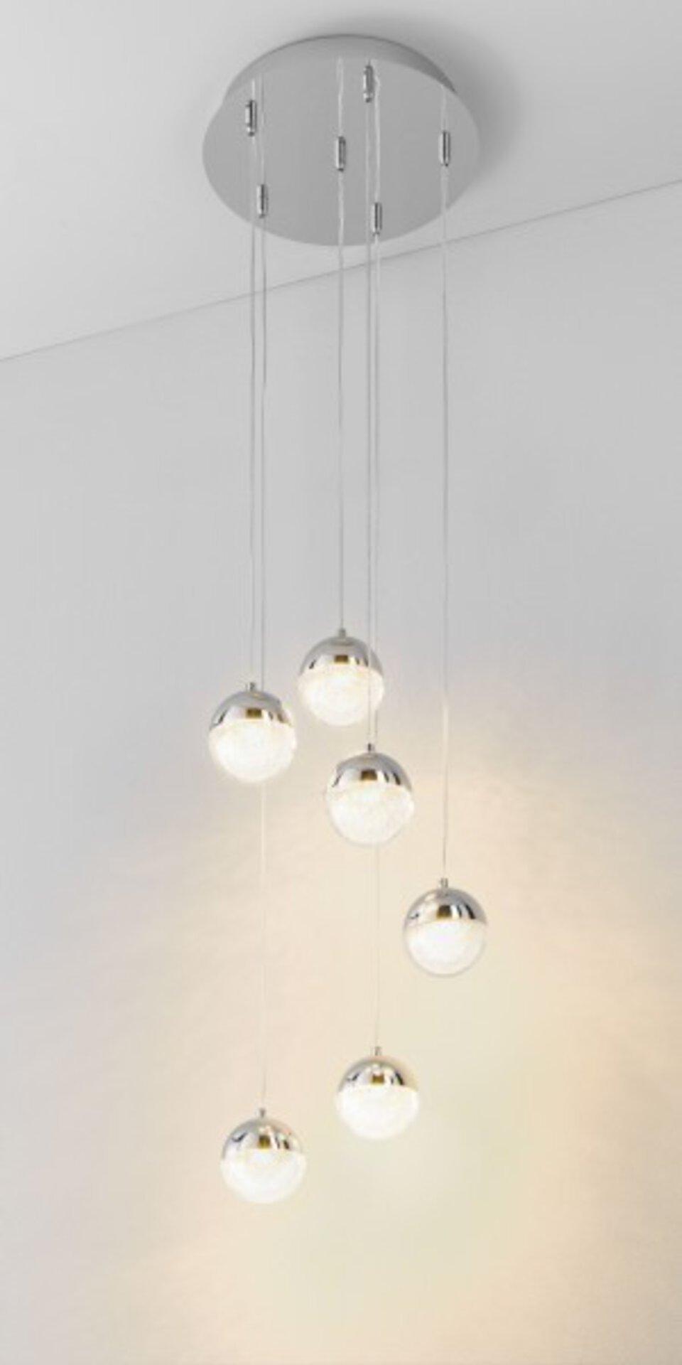Hängeleuchte Marie MONDO Metall silber 32 x 200 x 32 cm