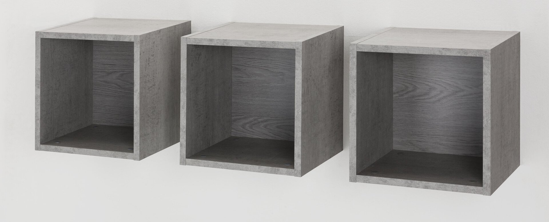 Zubehör MODELLO inbuy Holzwerkstoff grau 28 x 35 x 35 cm