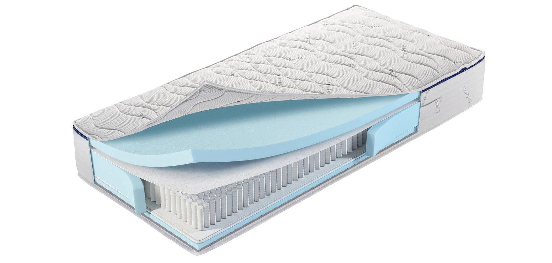 Taschenfederkernmatratze Deepblue Leros MONDO Textil weiß 100 x 22 x 200 cm