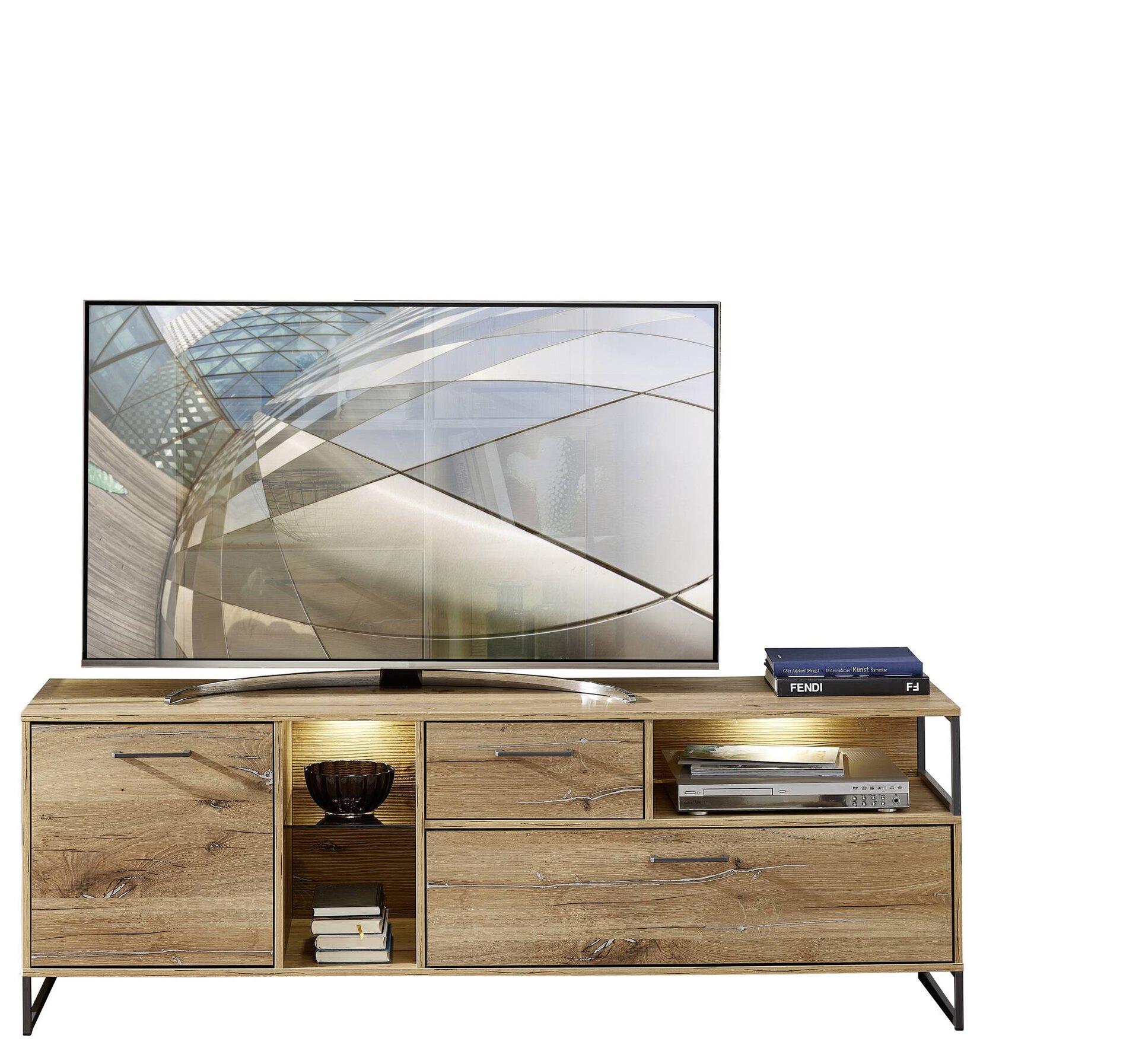 TV-Lowboard NEVADA Vito Holzwerkstoff braun 42 x 62 x 175 cm