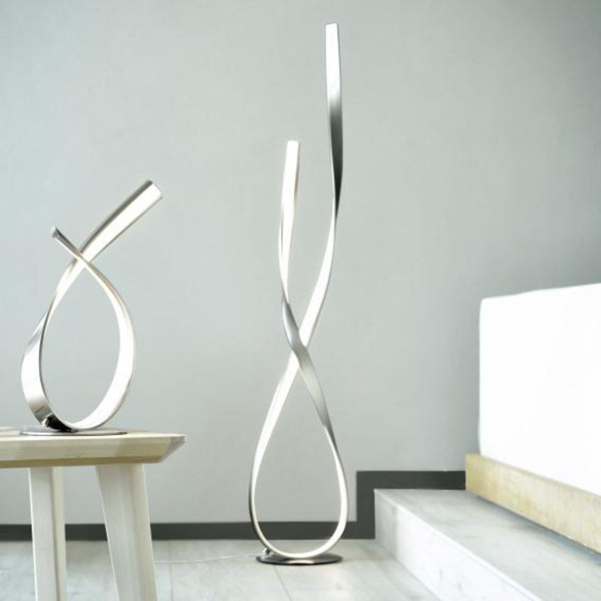 Stehleuchte LINDA Paul Neuhaus Metall silber 23 x 140 x 23 cm