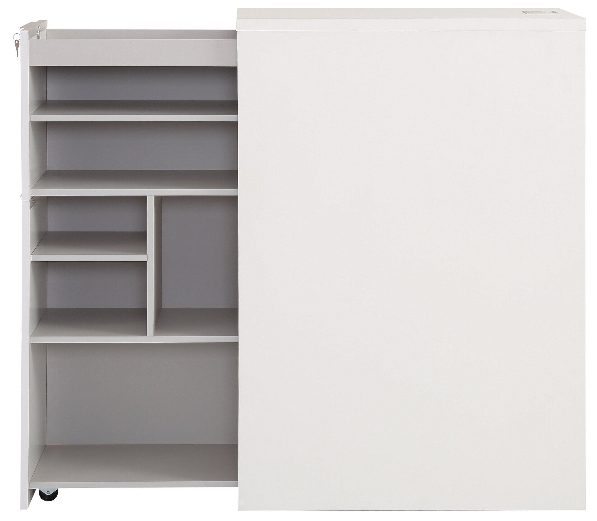 Standcontainer moveDJUST Maja Möbel Holzwerkstoff weiß 80 x 115 x 44 cm