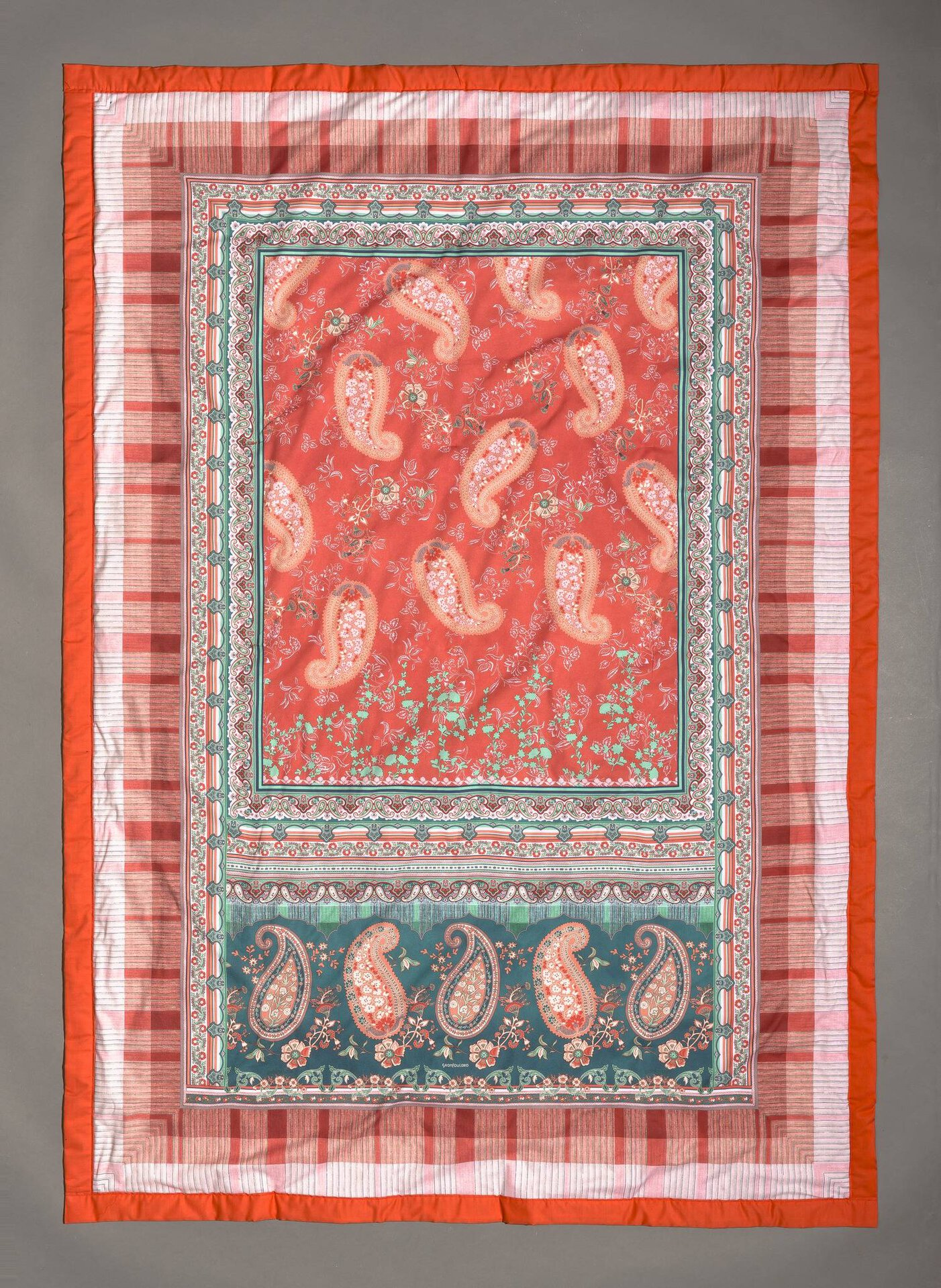 Plaid Anacapri Bassetti Textil orange 135 x 190 cm