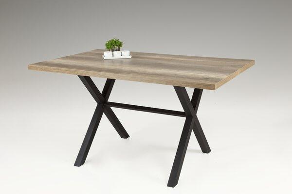 Esstisch Dinett Holzwerkstoff, Metall WIldeiche Nachbildung ca. 90 cm x 75 cm x 140 cm