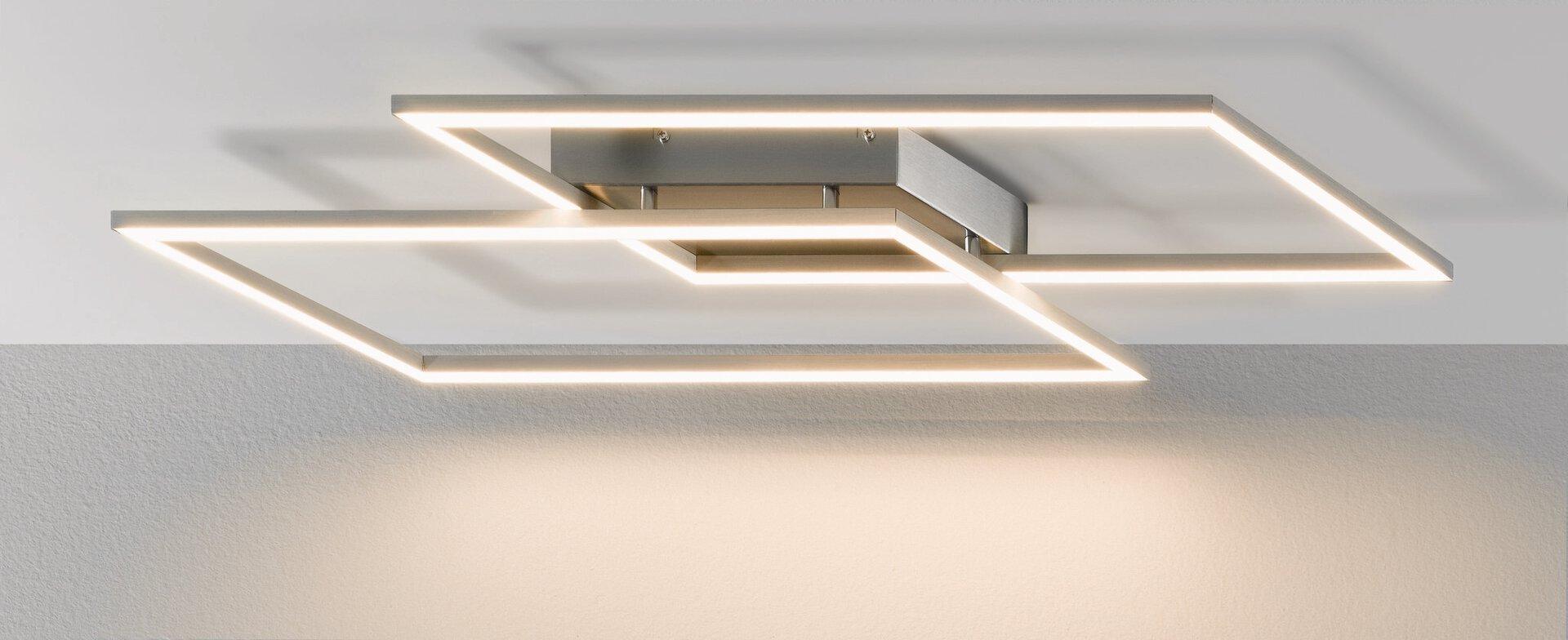Deckenleuchte INIGO Paul Neuhaus Metall silber 24 x 7 x 54 cm