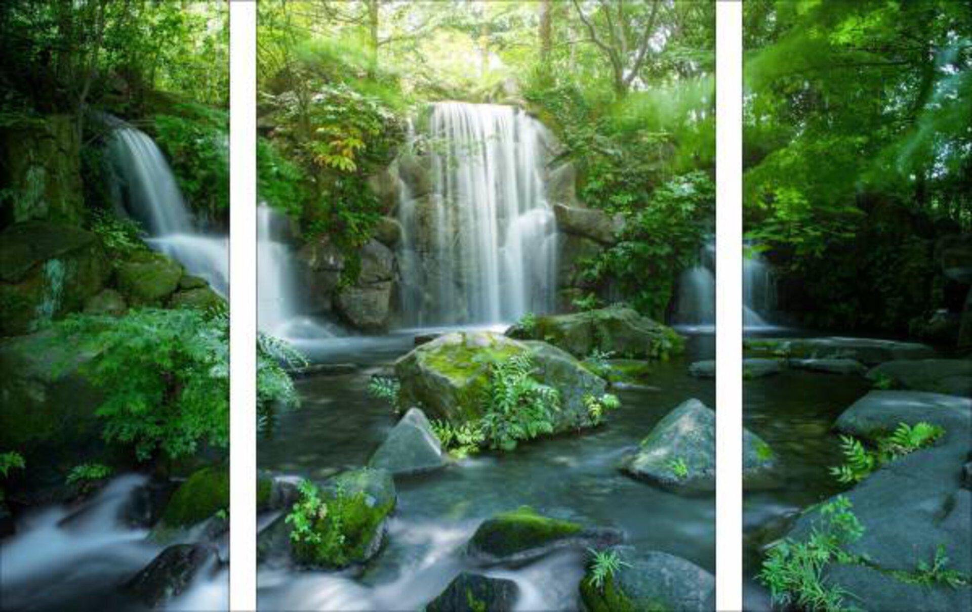 Bild Asian Waterfall Pro-Art Glas 120 x 80 x 1 cm