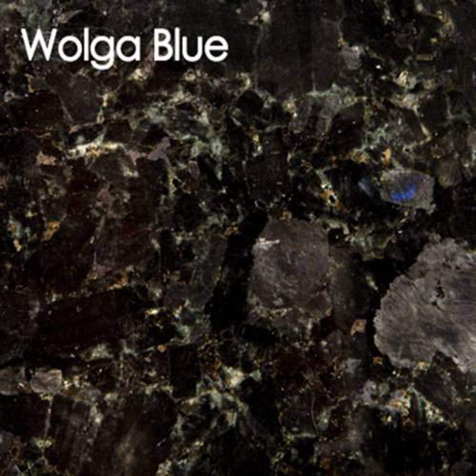 Arbeitsplatte aus Naturstein in der Ausführung Wolga Blue.