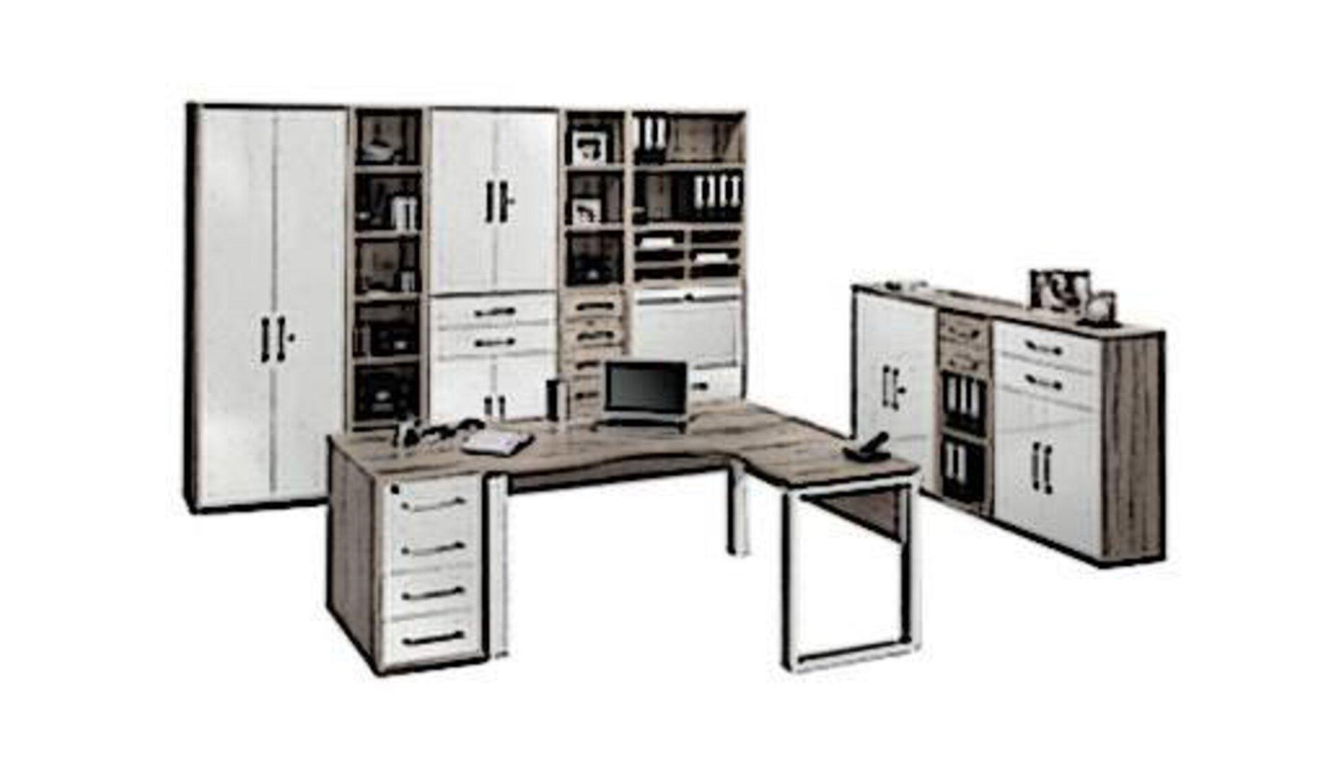 Arbeitszimmer bestehend aus Schreibtisch, Aktenschrank und Büroschrank