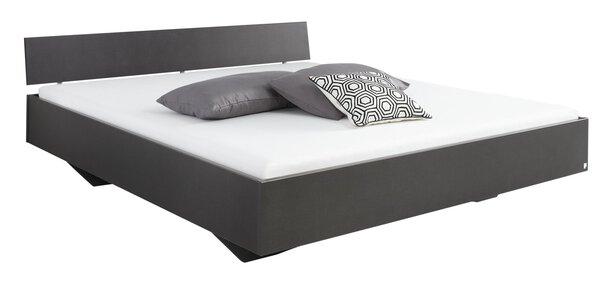Bett rauch BLUE Holzwerkstoff Grau metallic ca. 206 cm x 41 cm x 185 cm