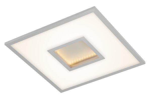 Deckenleuchte Briloner Metall chrom ca. 45 cm x 5 cm x 45 cm