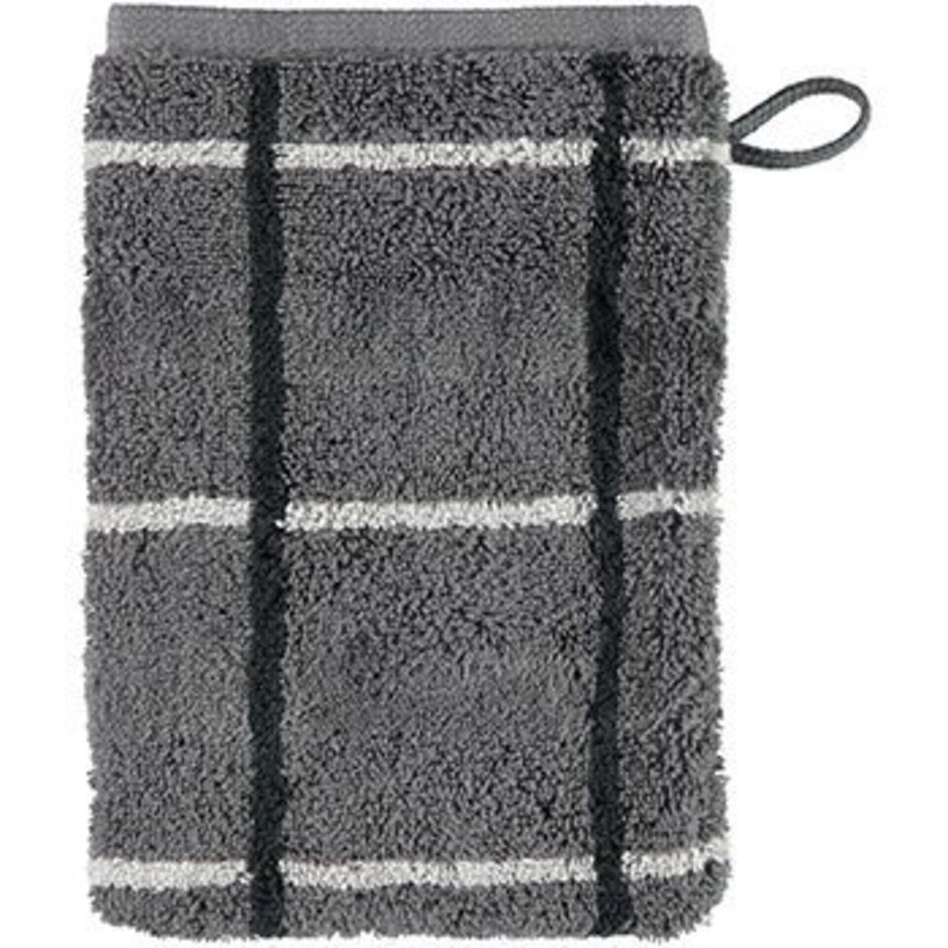 Waschhandschuh Cawö Textil grau 16 x 22 cm