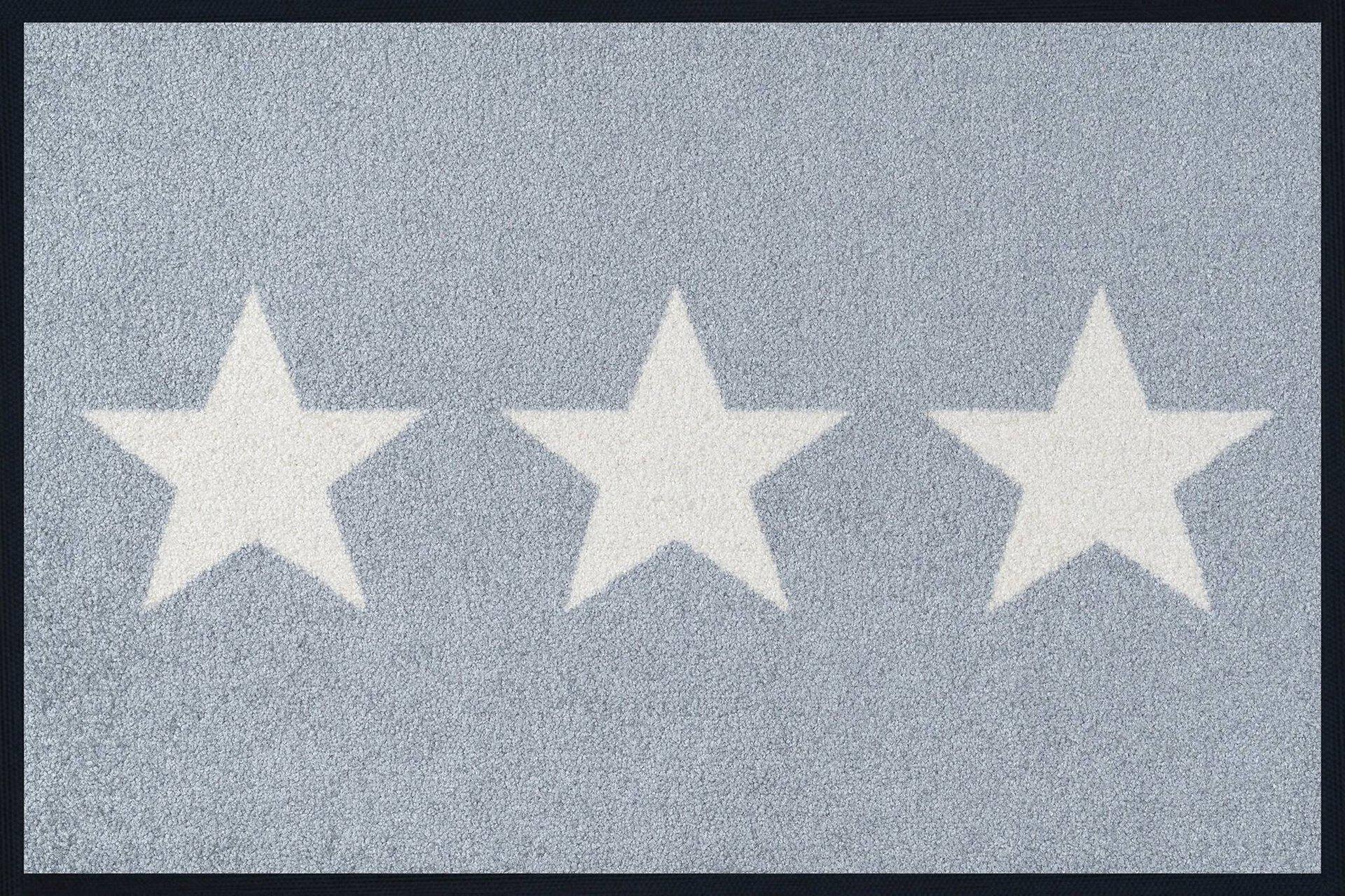 Türmatte Stars grey Kleen-Tex Textil 40 x 60 cm