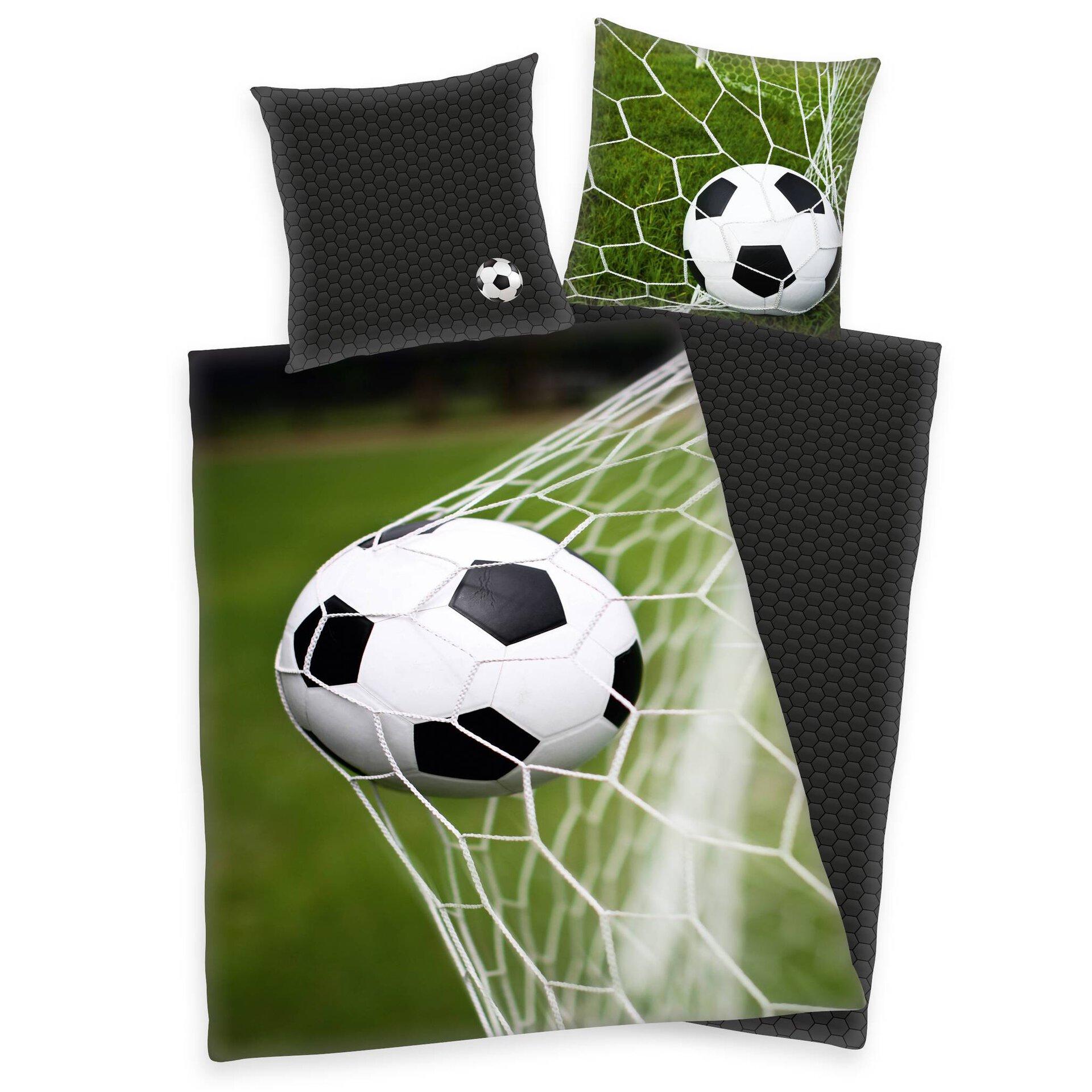 Kinderbettwäsche YoungC. Fußball Klaus Herding Textil mehrfarbig 135 x 200 cm