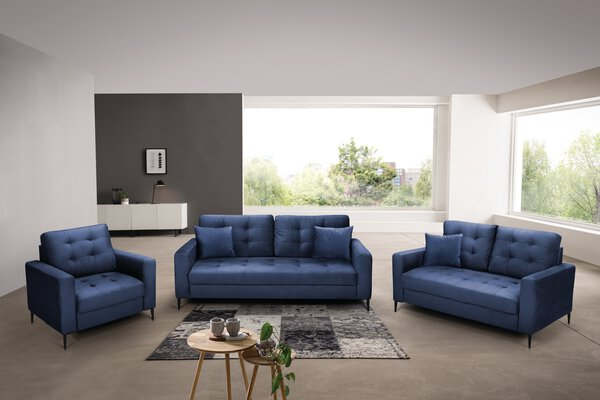 Sofa 3-Sitzer CELECT Textil F029 Cosy blue ca. 94 cm x 74 cm x 182 cm