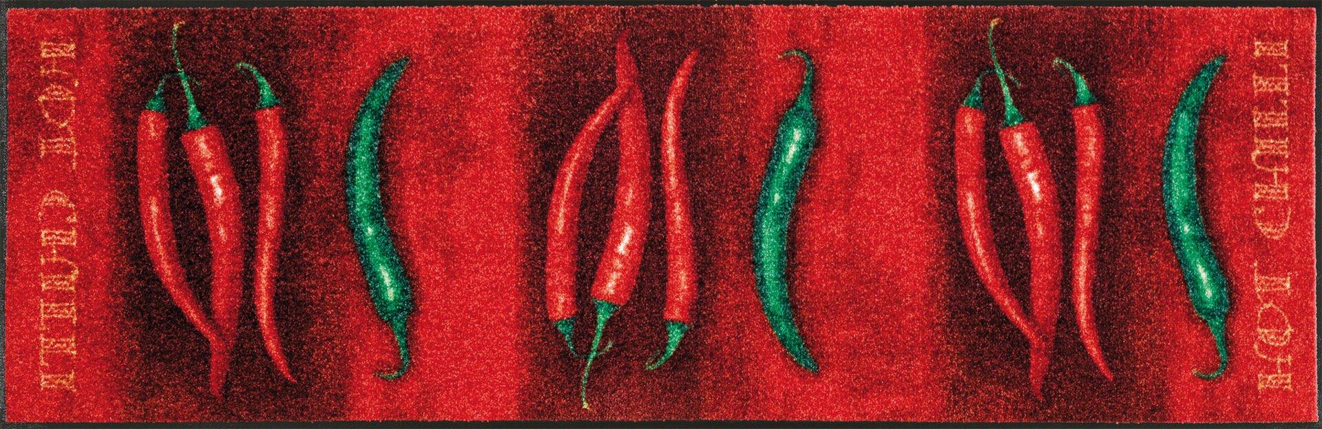 Läufer Hot Chilli Kleen-Tex Textil rot 60 x 180 cm