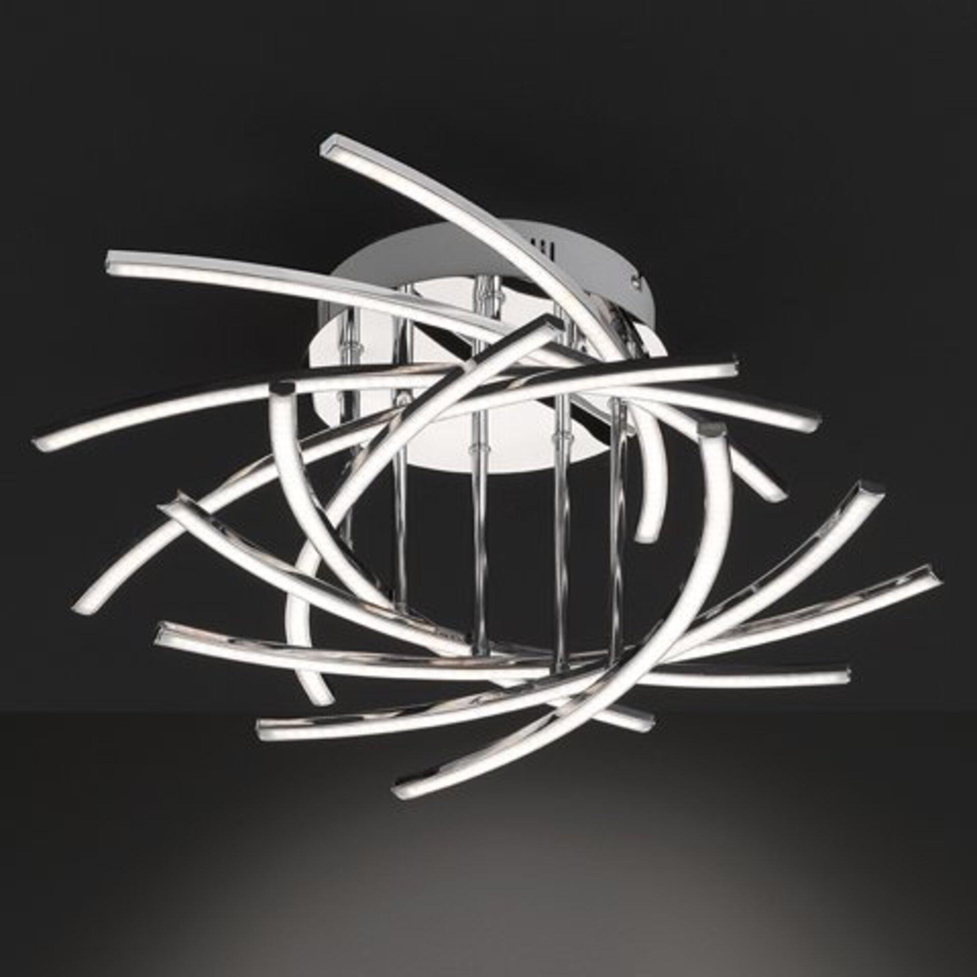 Deckenleuchte Cross Fischer-Honsel Metall silber 55 x 26 x 55 cm