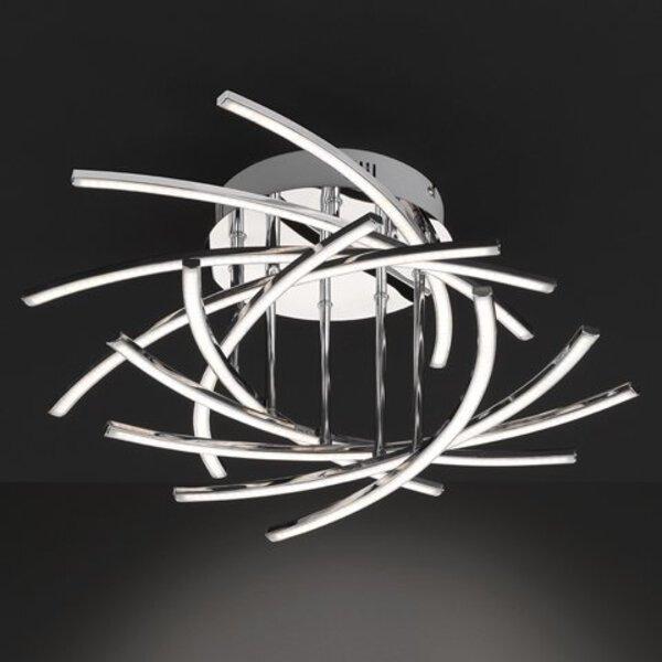Deckenleuchte Fischer-Honsel  Metall chrom ca. 55 cm x 26 cm x 55 cm