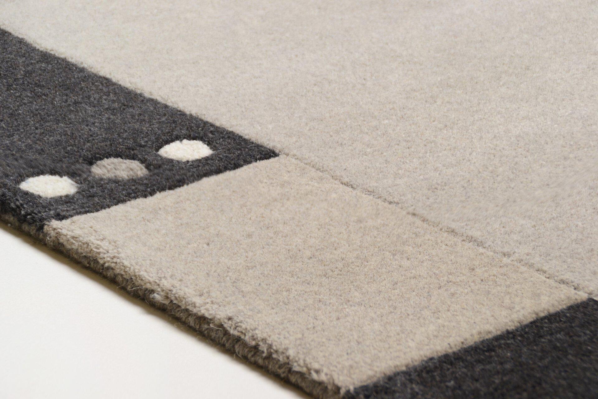 Handtuftteppich Napura Theko Textil grau 50 x 1 cm