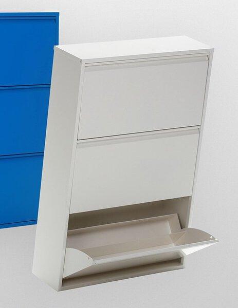 Schuhschrank inbuy Holzwerkstoff Metall weiss ca. 23 cm x 115 cm x 76 cm