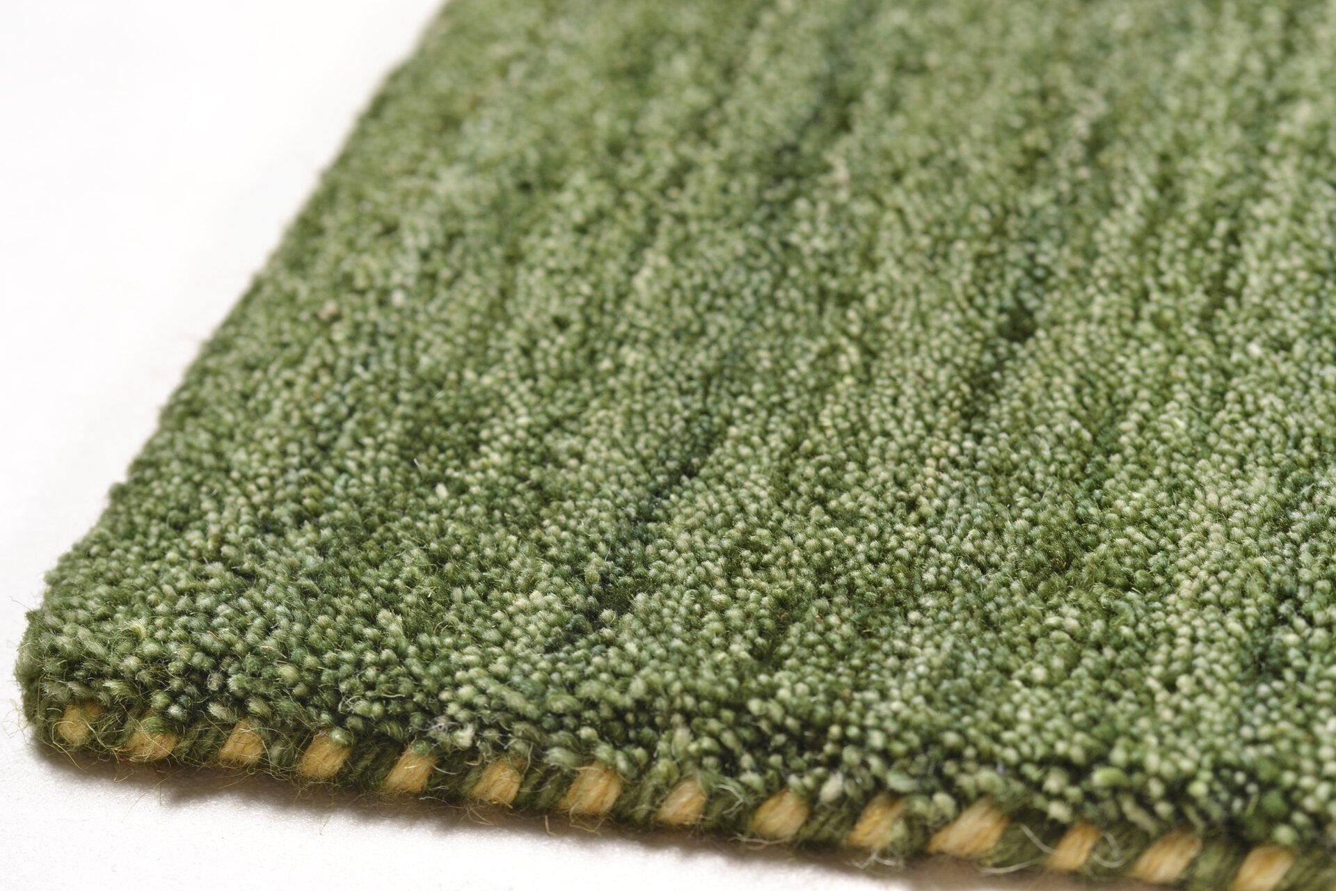 Handwebteppich Manhattan Theko Textil grün 1 x 3 cm