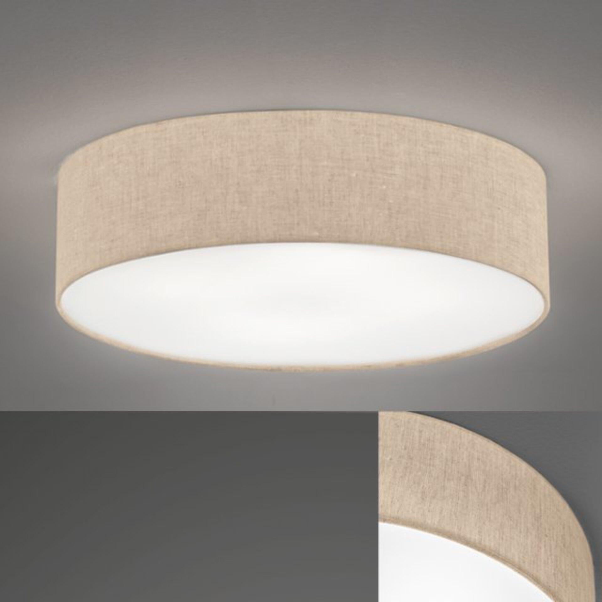 Deckenleuchte Thor Fischer-Honsel Textil beige 60 x 15 x 60 cm