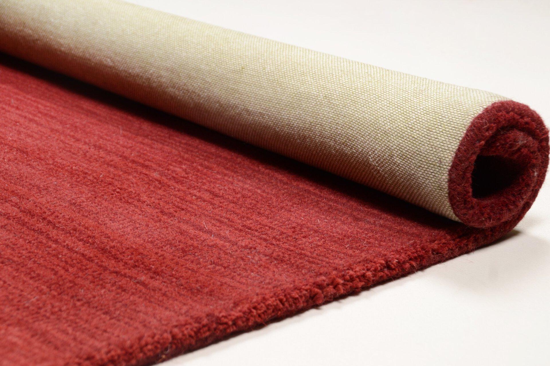 Handwebteppich Wool Star Theko Textil rot