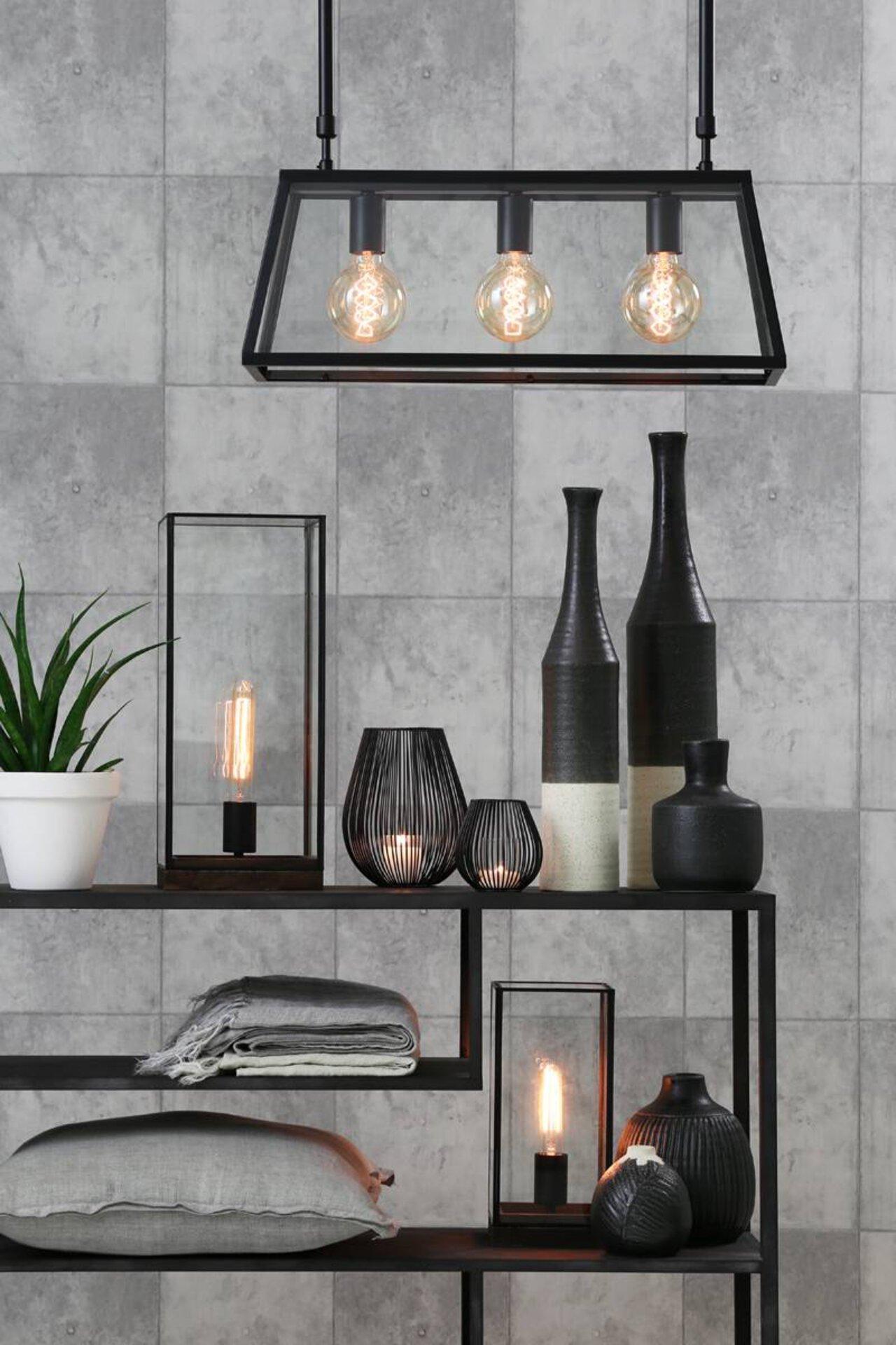 Tischleuchte ASKJER Light & Living Metall schwarz 15 x 30 x 15 cm