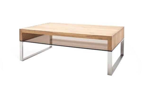 Couchtisch MCA furniture Glas, Holz, Metall holzfarben ca. 70 cm x 39 cm x 110 cm