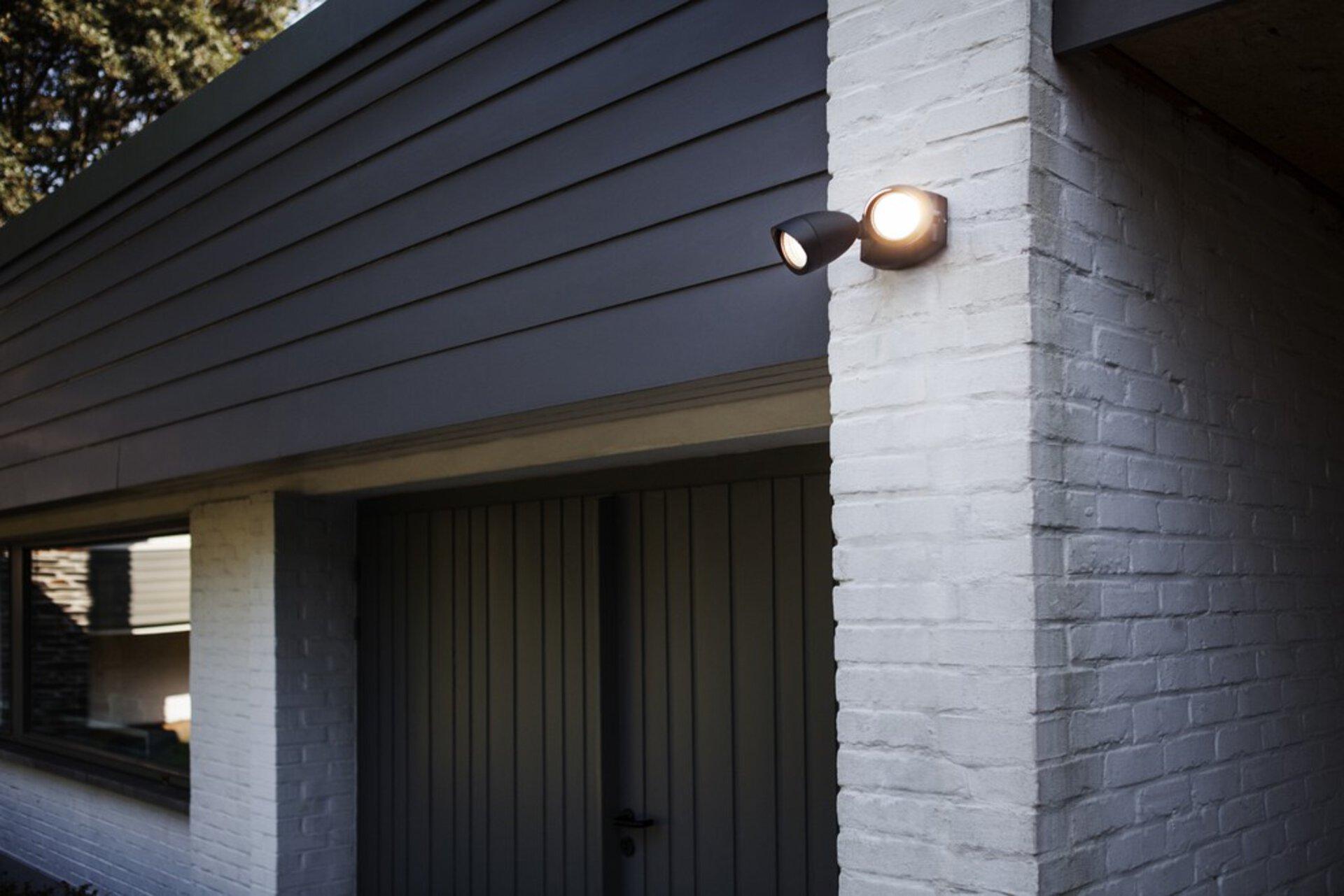 Wand-Aussenleuchte SHRIMP Eco-Light Metall schwarz 27 x 13 x 18 cm