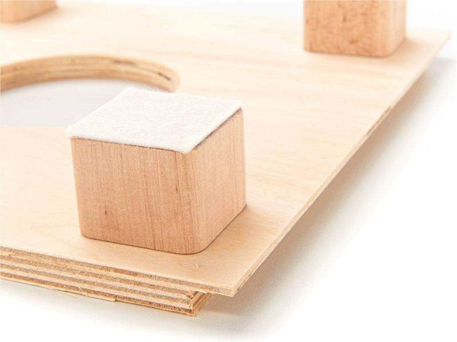 Hocker Kindertrommelhocker Baff Holz braun 26 x 38 x 26 cm