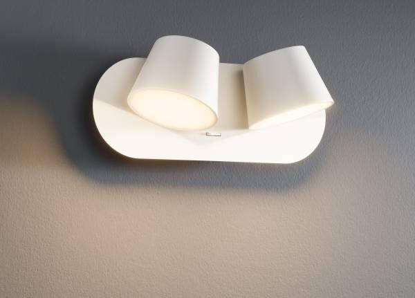 Wandleuchte Casa Nova Metall weiß ca. 27 cm x 13 cm x 10 cm