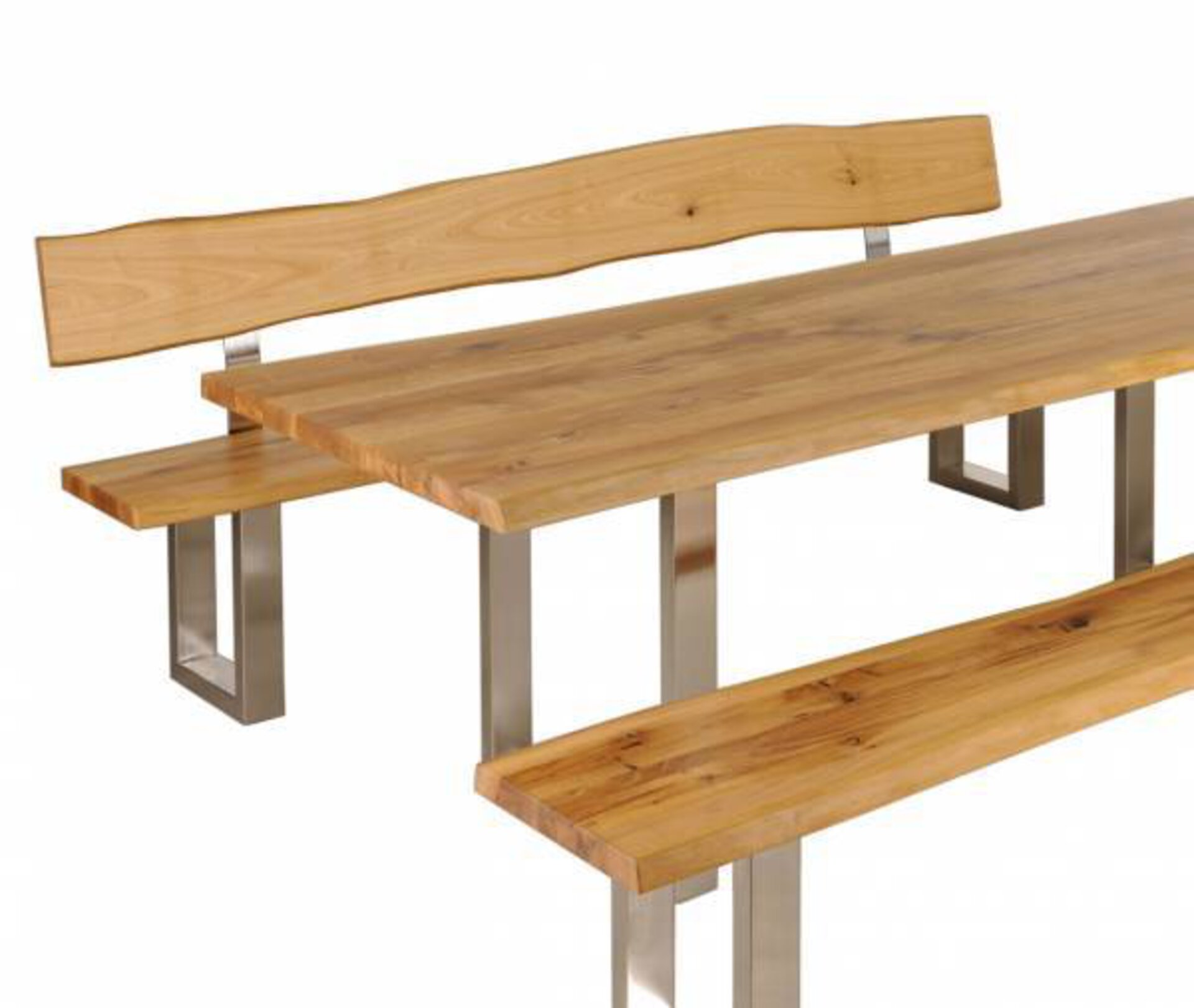 Tisch ZINGST Dinett Holz braun 100 x 75 x 200 cm