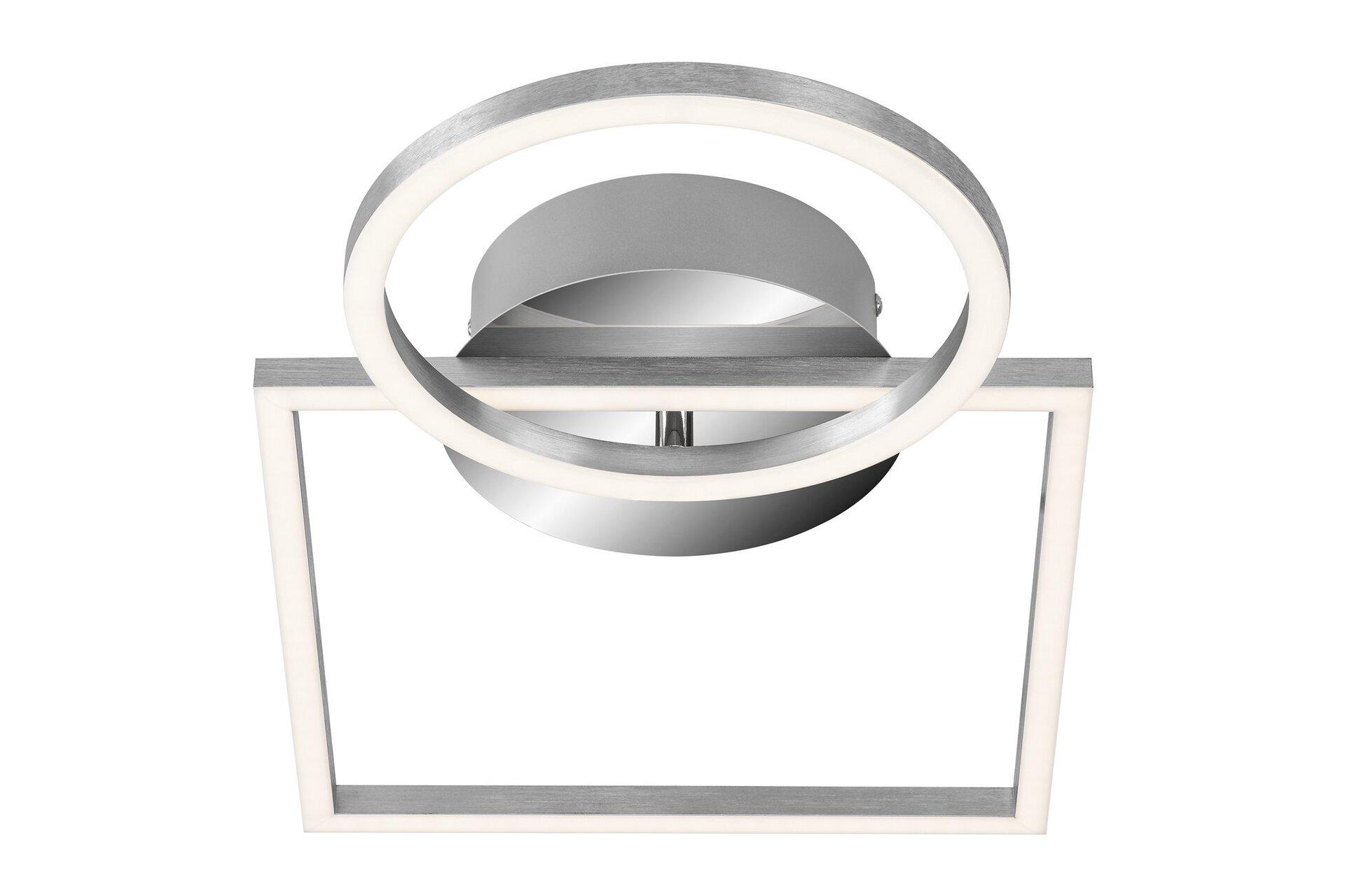Deckenleuchte Frames Briloner Metall silber 26 x 8 x 42 cm