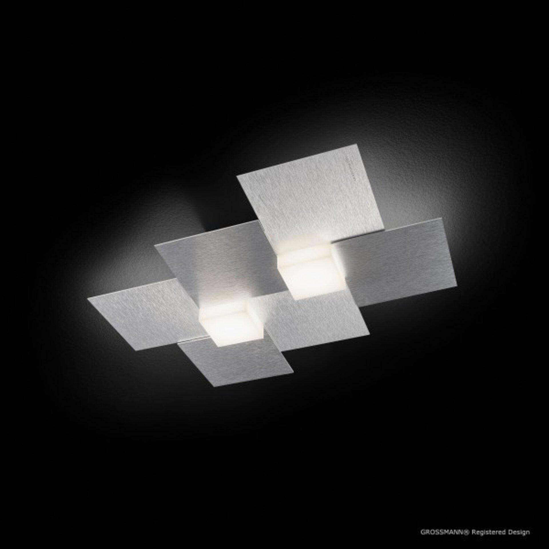 Deckenleuchte creo Grossmann Metall silber 33 x 5 x 39 cm