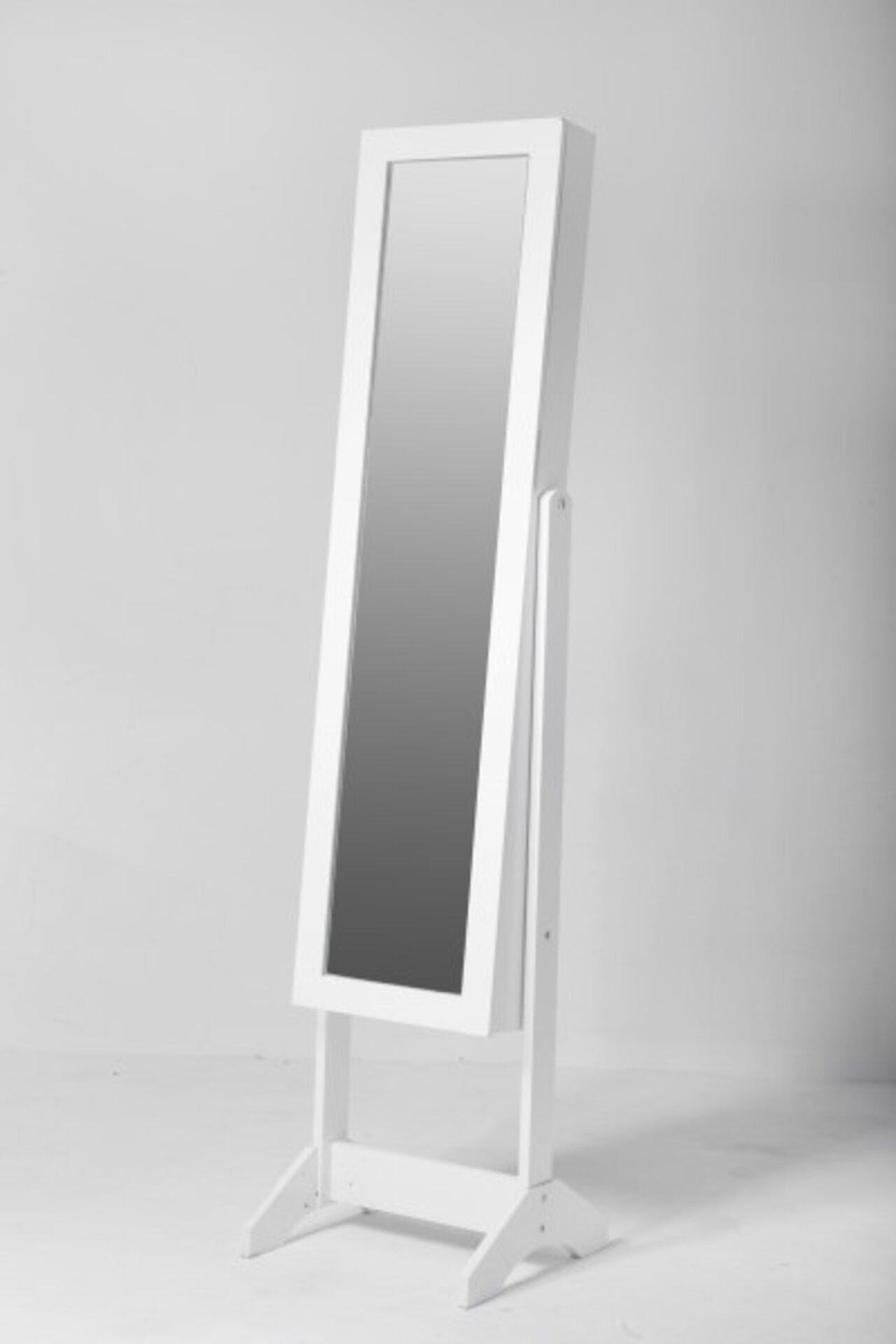 Standspiegel inDoor Holzwerkstoff weiß 2 x