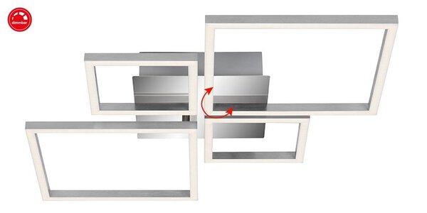 Deckenleuchte Briloner Metall chrom ca. 75 cm x 6 cm x 47 cm