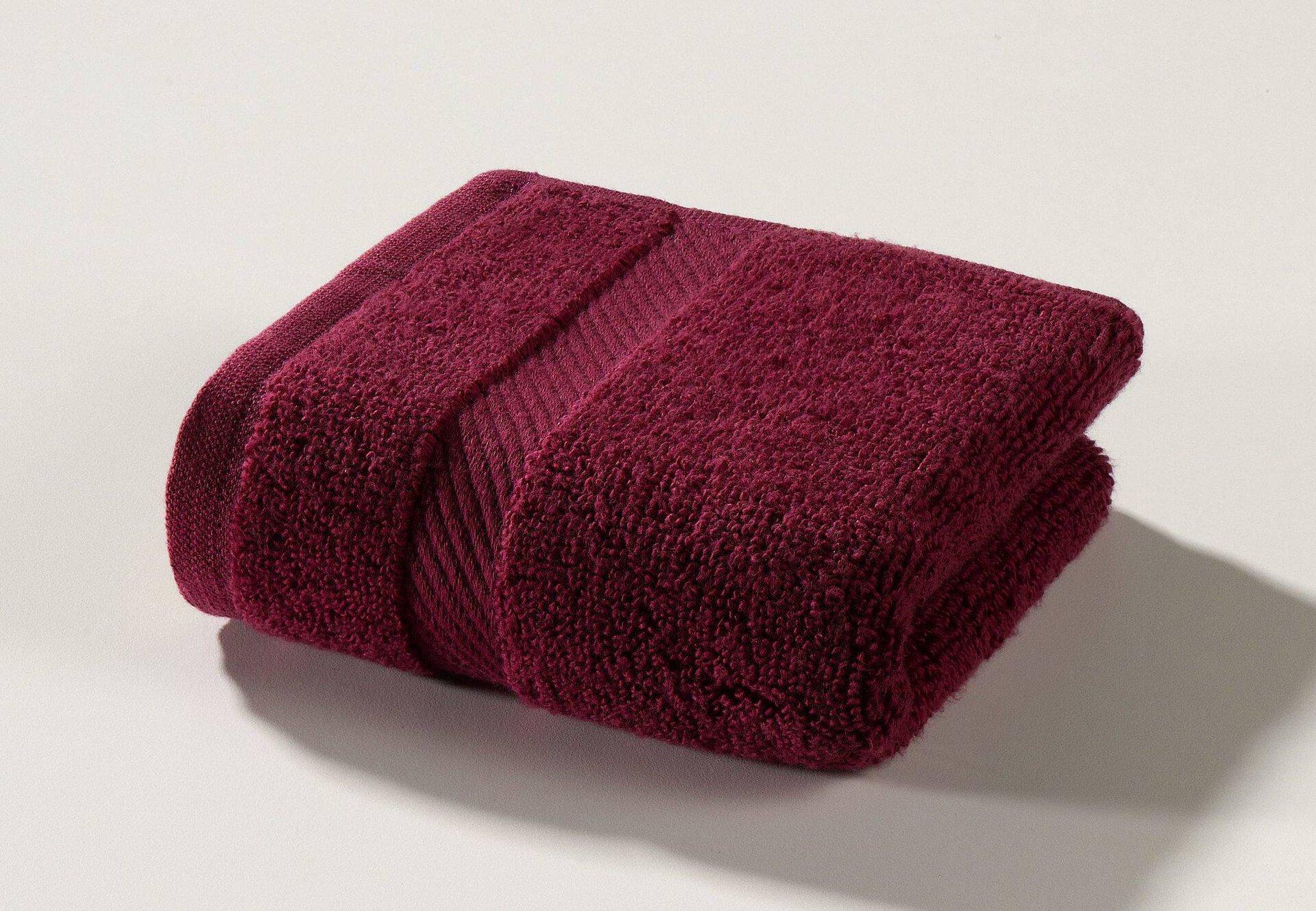 Seiftuch Micro Baumwolle Casa Nova Textil rot 30 x 30 cm
