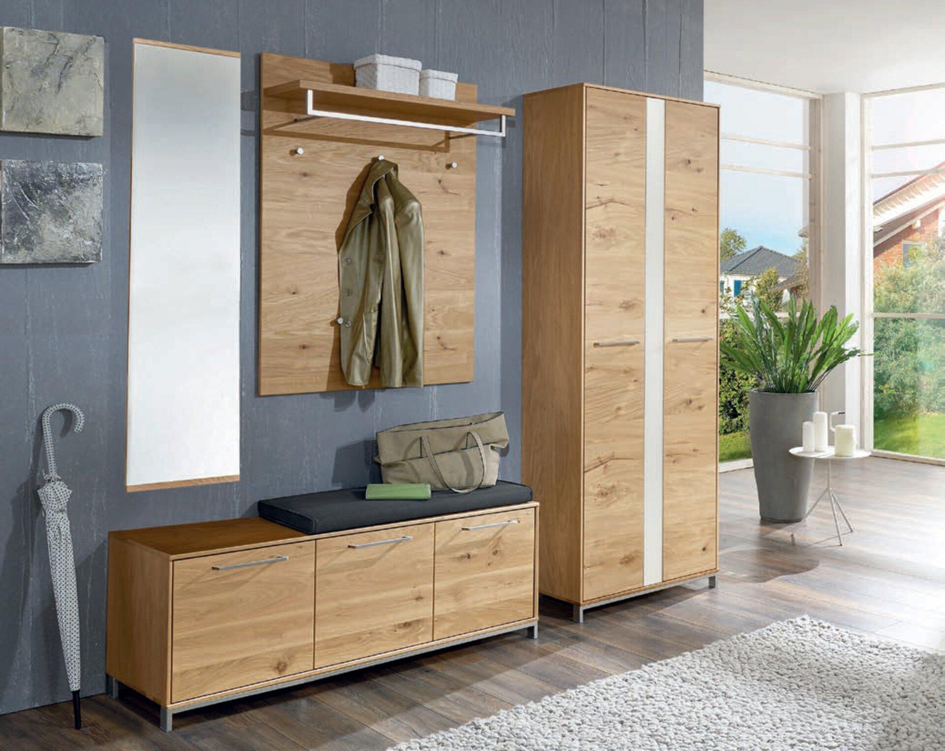 Garderobenbank VEDO Voss Möbel Holzwerkstoff braun 40 x 47 x 127 cm