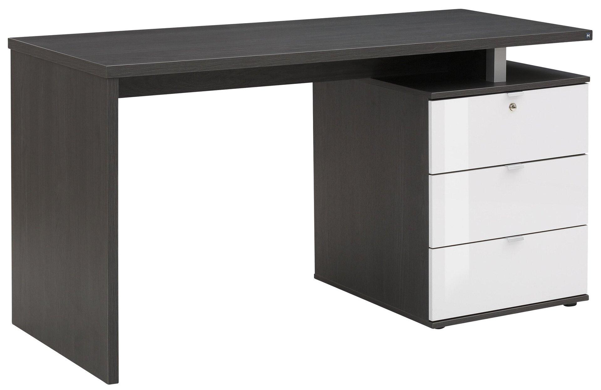 Schreibtisch Maja Möbel Holzwerkstoff grau 60 x 75 x 140 cm