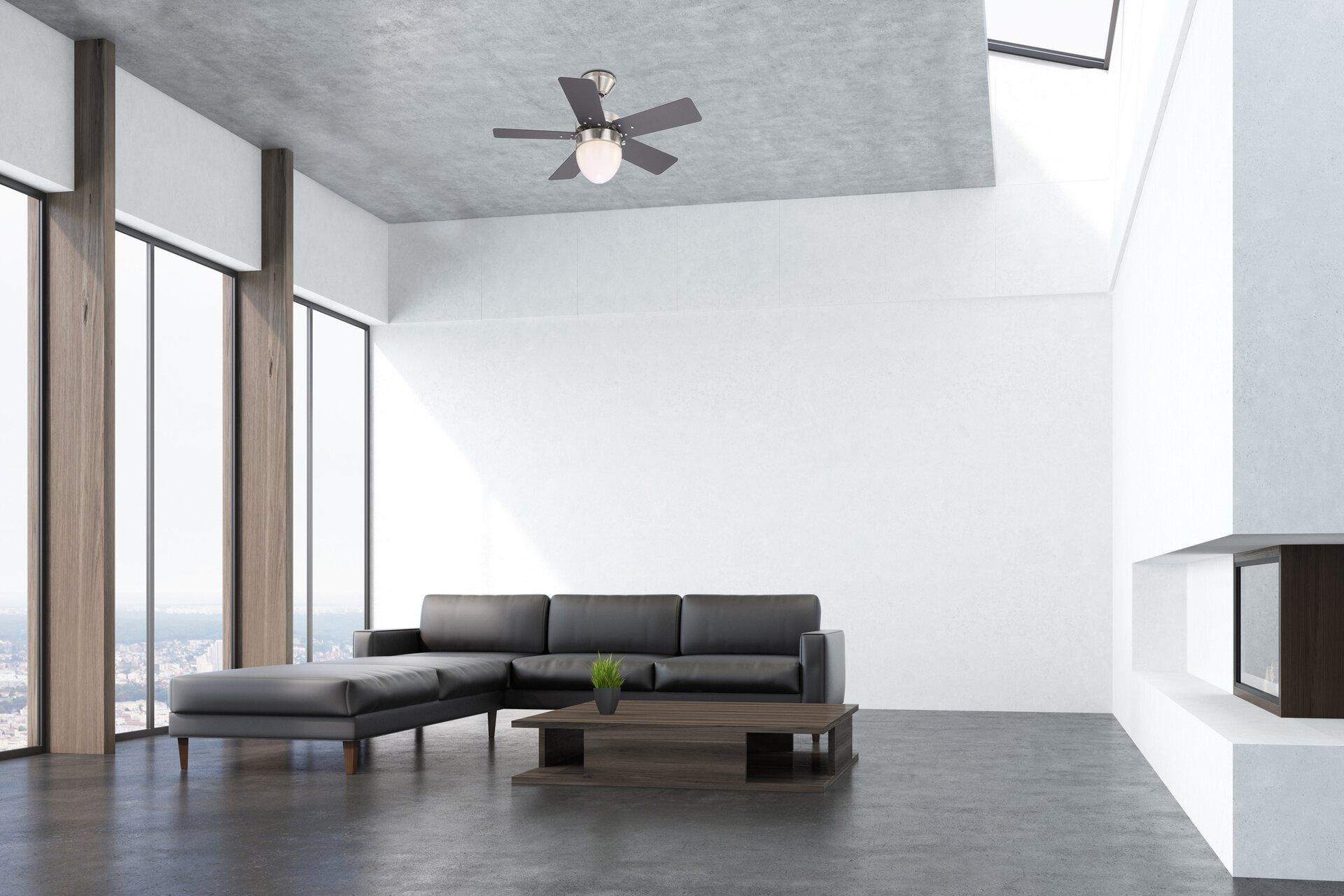 Deckenventilator MARVA Globo Metall silber 76 x 41 x 76 cm