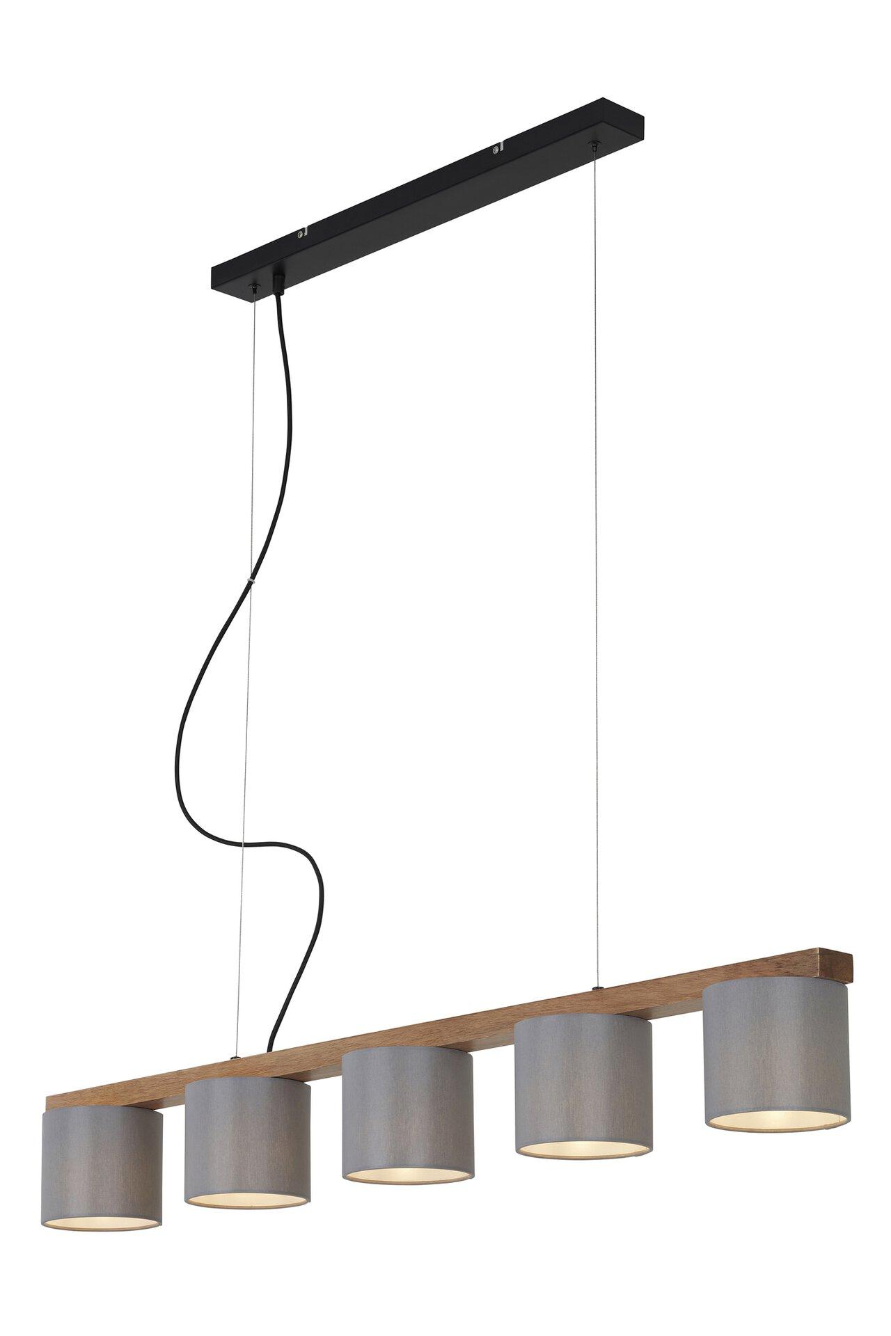 Hängeleuchte WOOD & STYLE Briloner Metall braun 15 x 136 x 110 cm